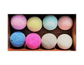 set of 8 bath bombs